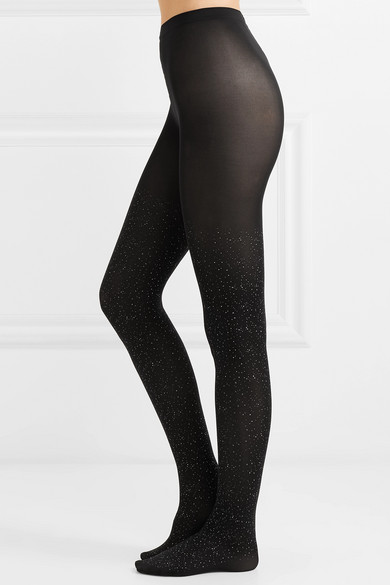 80155f48a Wolford. Luna glittered 66 denier tights