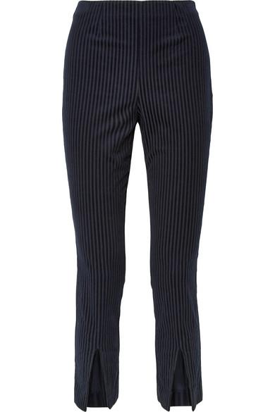 FRAME CROPPED COTTON-BLEND CORDUROY SKINNY PANTS