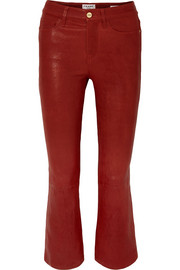 Le Crop Mini Boot leather pants