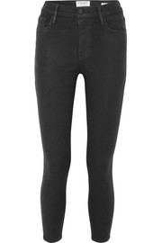Ali coated high-rise skinny jeans