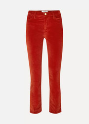 FRAME Le High cotton-blend corduroy straight-leg pants