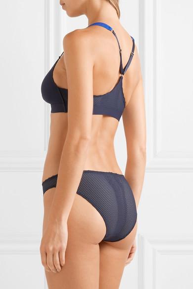 c6831c93a Stella McCartney. Stella stretch-jersey and mesh soft-cup triangle bra.   75. Zoom In