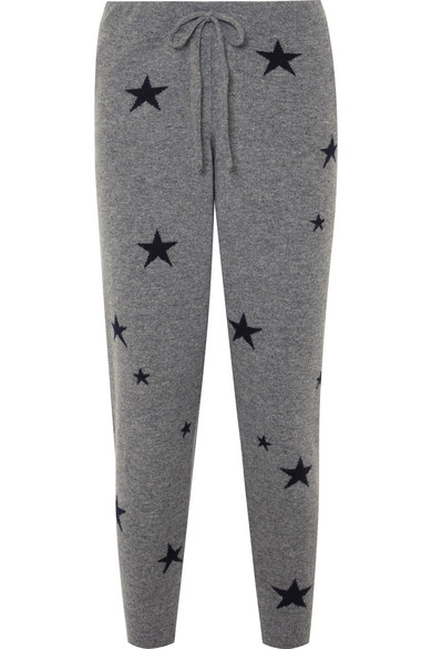 STAR CASHMERE TRACK PANTS