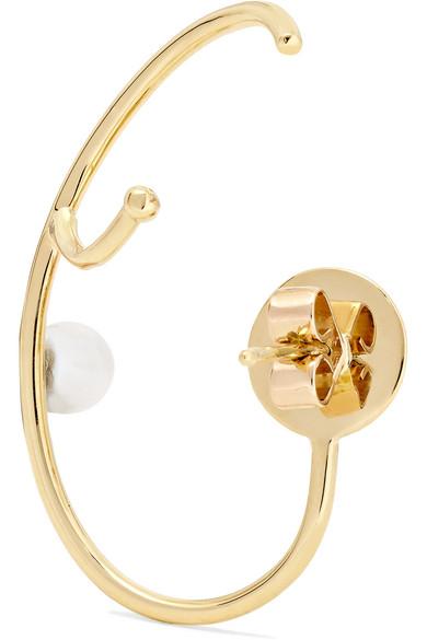 Marie 18-karat Gold Pearl Ear Cuff - L Ana Khouri u4SMJ0g