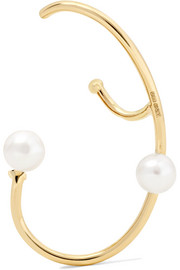 Lily 18-karat gold pearl earring