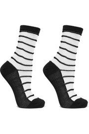 Isabella set of two striped cotton-blend socks