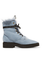 Jissikia shearling-lined suede ankle boots