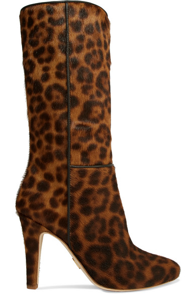 BROTHER VELLIES Leopard-Print Calf Hair Boots in Leopard Print