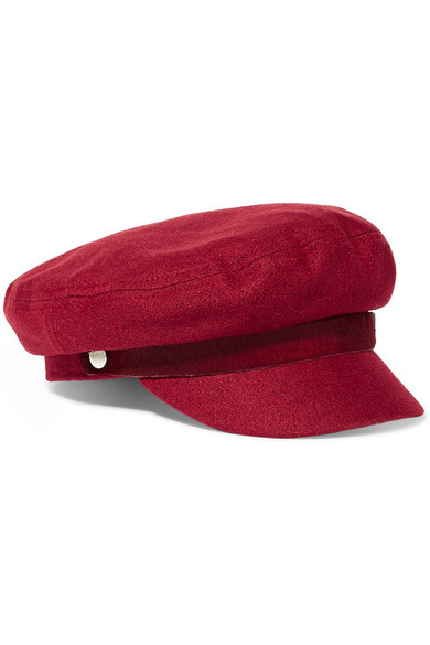 rag & bone - Calf Hair-trimmed Wool-blend Cap - Red