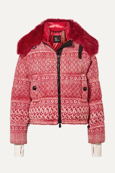 ea1ac9980c0 + 3 Grenoble faux shearling-trimmed wool-blend tweed down jacket