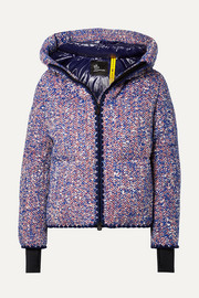 + 3 Grenoble wool-blend bouclé down jacket