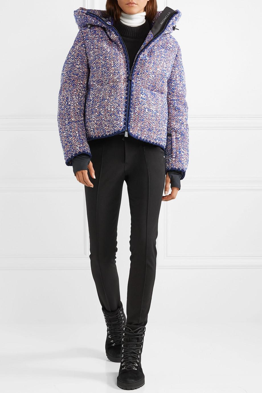 Moncler Genius + 3 Grenoble wool-blend bouclé down jacket