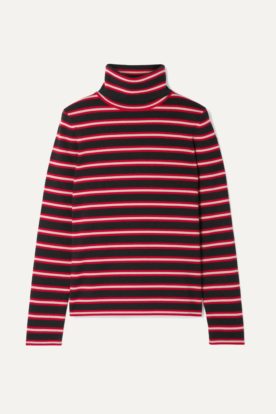 Moncler Genius + 3 Moncler Grenoble striped stretch wool-blend turtleneck top