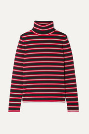 Moncler Genius Grenoble striped stretch wool-blend turtleneck top