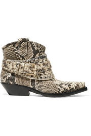 Zimmermann Snake-effect leather ankle boots