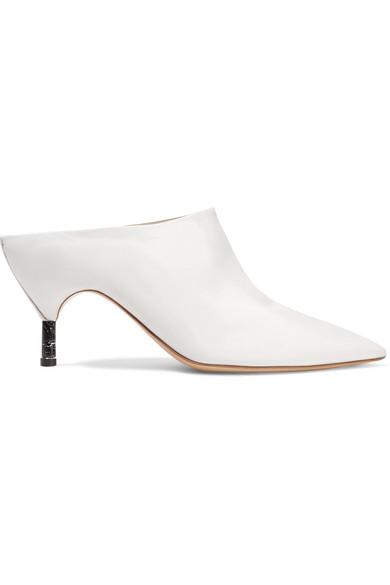 GABRIELA HEARST Angelica Calf Slide Mules in White