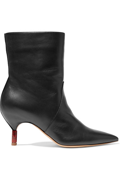Mariana Leather Ankle Boots