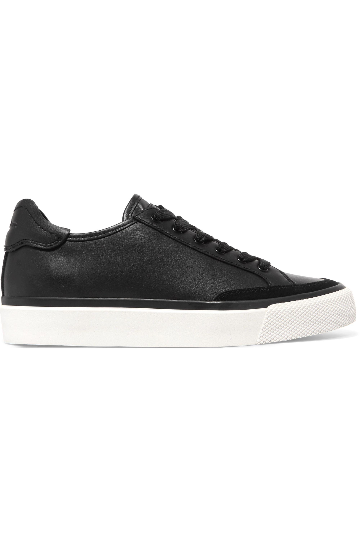 rag and bone black leather sneakers