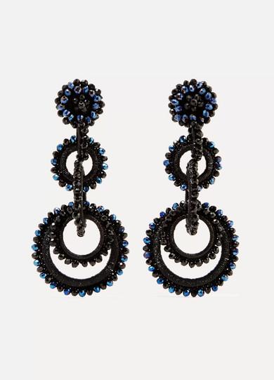BIBI MARINI Sundrop Bead And Silk Earrings in Black