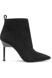 Kasuri suede ankle boots