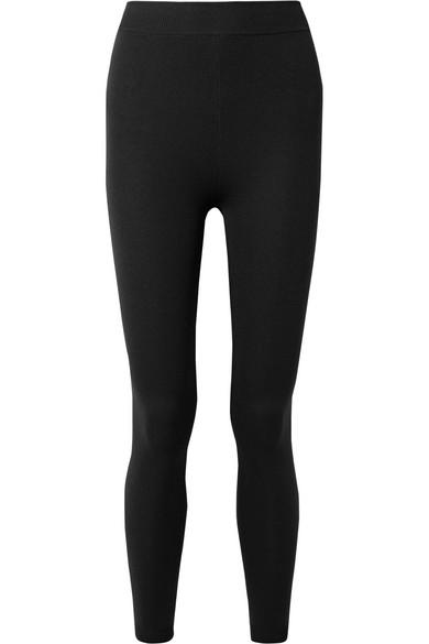 NAGNATA Technical-Knit Stretch-Cotton Leggings in Black