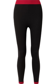 Nagnata Two-tone technical-knit stretch-cotton leggings