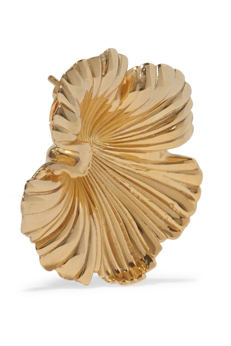 Meadowlark Gold-plated earrings