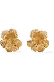 Meadowlark Gold-plated earrings