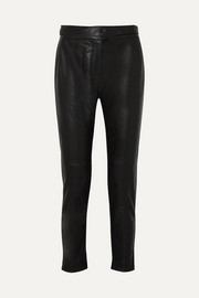 Mila leather track pants