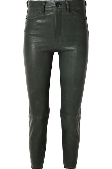 Leather Slim Leg Pants by Rag & Bone