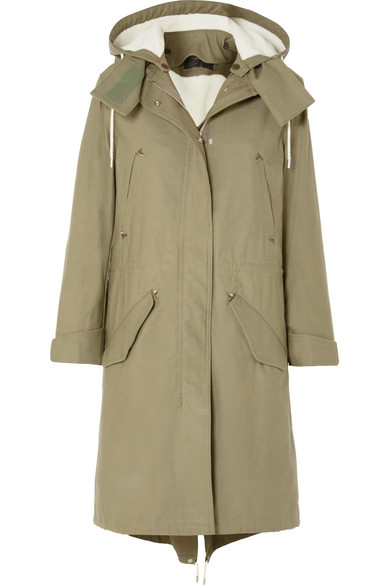 Penelope Oversized Cotton-Canvas Parka in 330 Light G