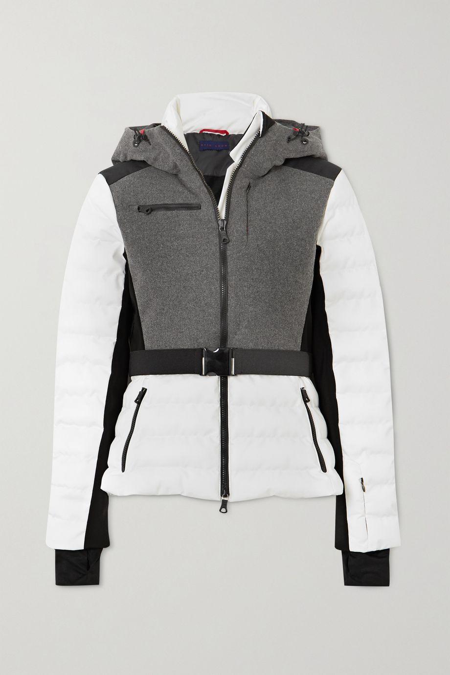 Erin Snow Kat color-block quilted merino wool-blend ski jacket