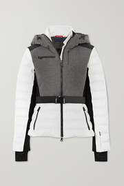Erin Snow Kat color-block quilted merino wool-blend ski jacket