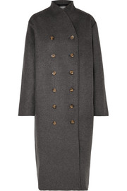 Bergerac oversized double-breasted wool-blend felt coat
