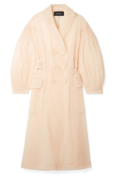 TULLE TRENCH COAT