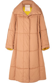 Maera oversized quilted cotton-canvas coat