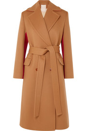 Nate two-tone wool and cashmere-blend coat