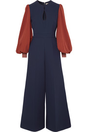 Aunya two-tone cady jumpsuit