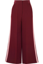 Hasani cropped striped crepe wide-leg pants