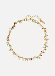 Chan Luu Gold-plated crystal anklet