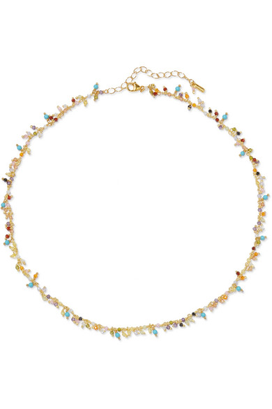 Gold Plated Crystal Choker by Chan Luu