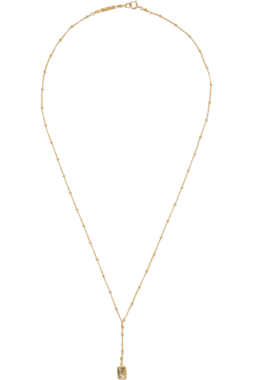 Chan Luu Gold-plated labradorite necklace