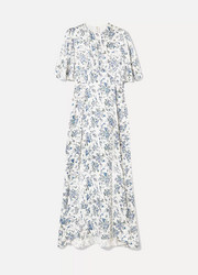 Les Rêveries Floral-print silk-satin maxi dress