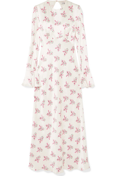 595827055ff5 Les Rêveries | Floral-print silk-satin maxi dress | NET-A-PORTER.COM