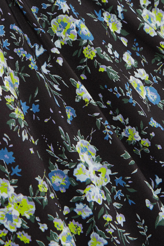 Les Rêveries Robe midi en mousseline de soie à imprimé fleuri