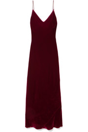 Les Rêveries Velvet slip dress