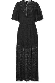 Les Rêveries Silk-lace maxi dress