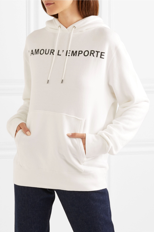 Les Rêveries Sweat à capuche oversize en jersey de coton mélangé imprimé