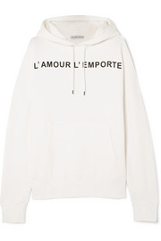 Les Rêveries Oversized printed cotton-blend jersey hoodie
