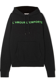 Les Rêveries Printed cotton-blend jersey hoodie